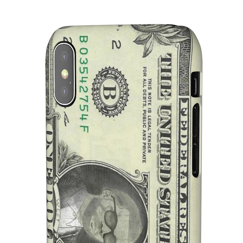 Kanye West President face on 1 dollar bill case iPhone Snap Case-iPhone X-Matte-Archethype