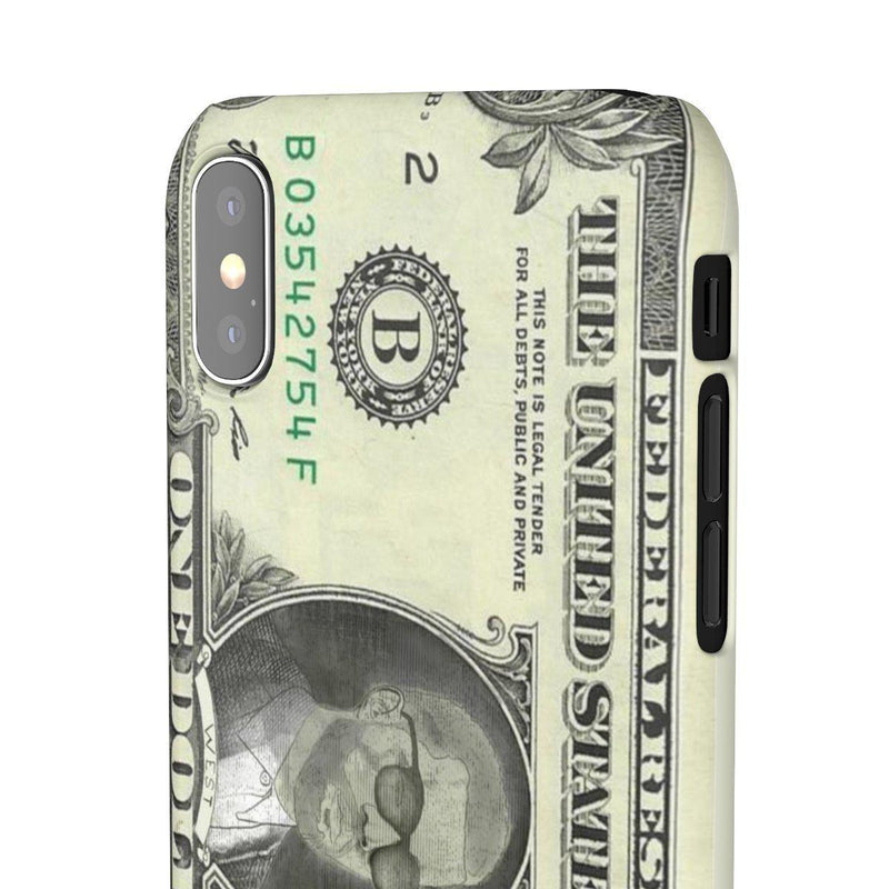 Kanye West President face on 1 dollar bill case iPhone Snap Case-iPhone XS-Glossy-Archethype