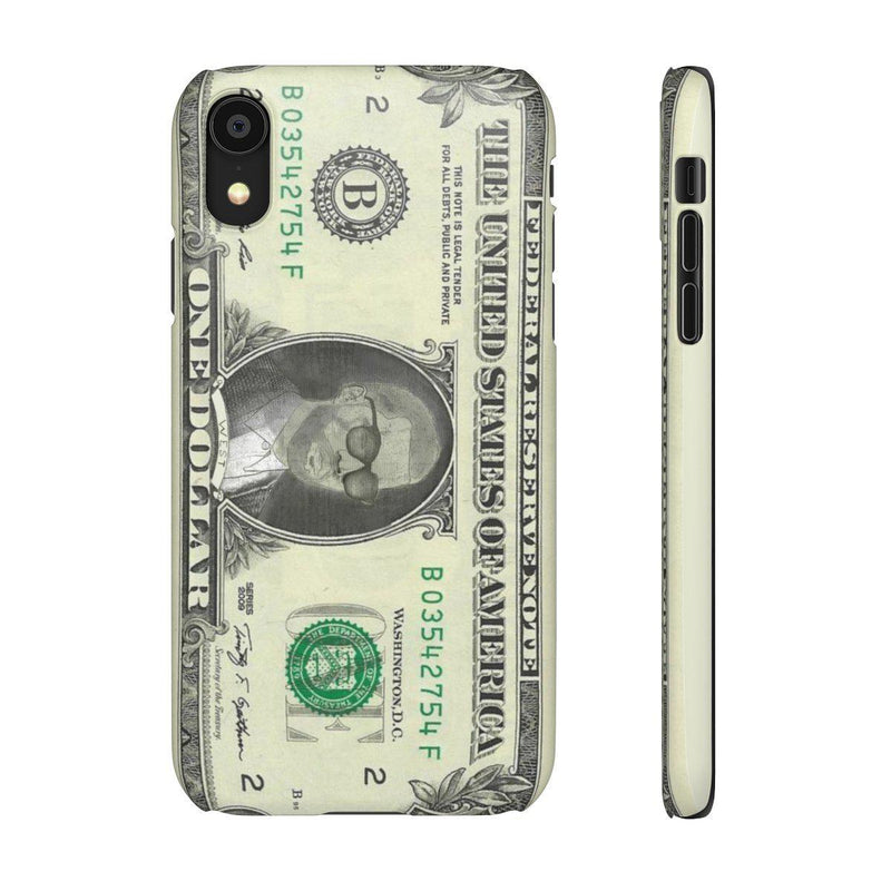 Kanye West President face on 1 dollar bill case iPhone Snap Case-iPhone XR-Matte-Archethype