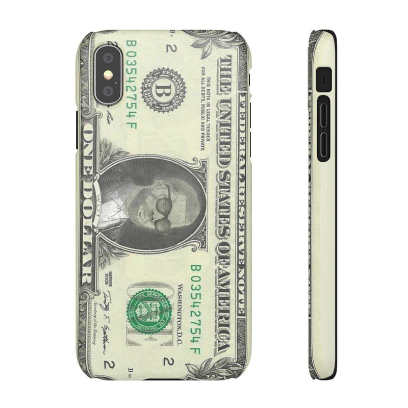 Kanye West President face on 1 dollar bill case iPhone Snap Case-iPhone XS-Matte-Archethype