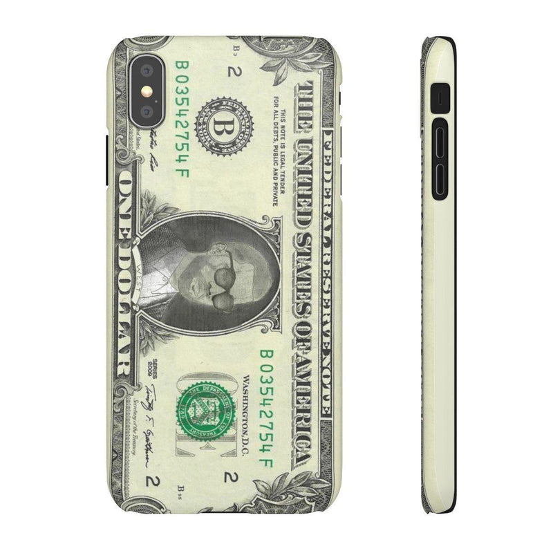 Kanye West President face on 1 dollar bill case iPhone Snap Case-iPhone XS MAX-Matte-Archethype