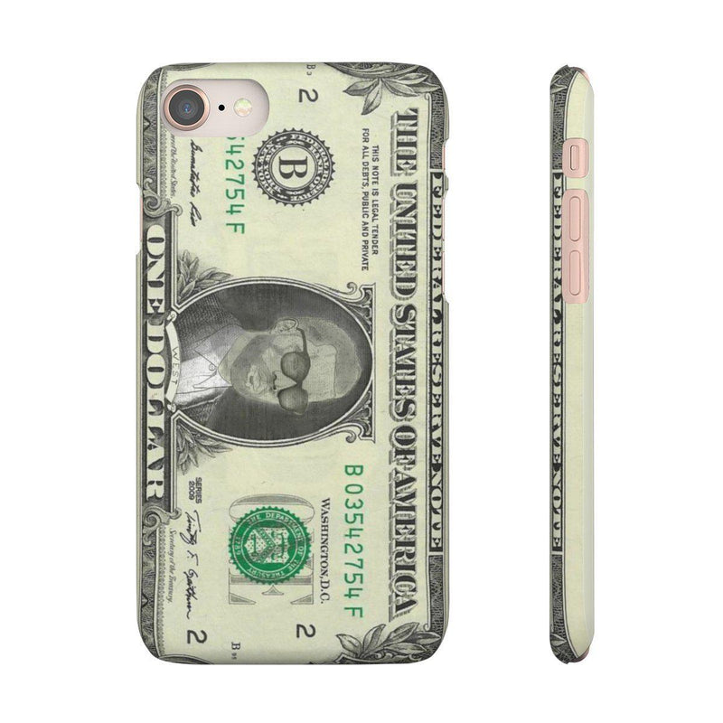 Kanye West President face on 1 dollar bill case iPhone Snap Case-iPhone 8-Matte-Archethype
