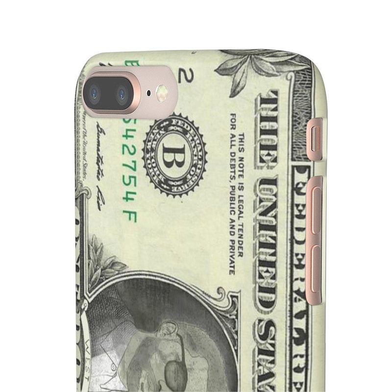 Kanye West President face on 1 dollar bill case iPhone Snap Case-iPhone 8 Plus-Glossy-Archethype