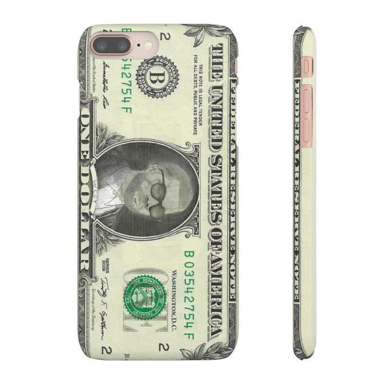 Kanye West President face on 1 dollar bill case iPhone Snap Case-iPhone 8 Plus-Matte-Archethype