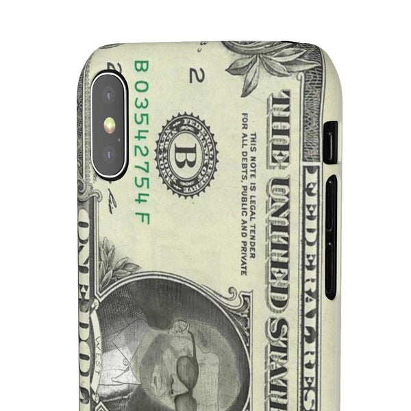 Kanye West President face on 1 dollar bill case iPhone Snap Case-iPhone X-Glossy-Archethype