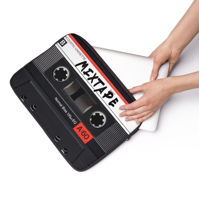 "Mixtape Tape Laptop Sleeve - 90S Retro Hip Hop laptop protection-13""-Archethype"