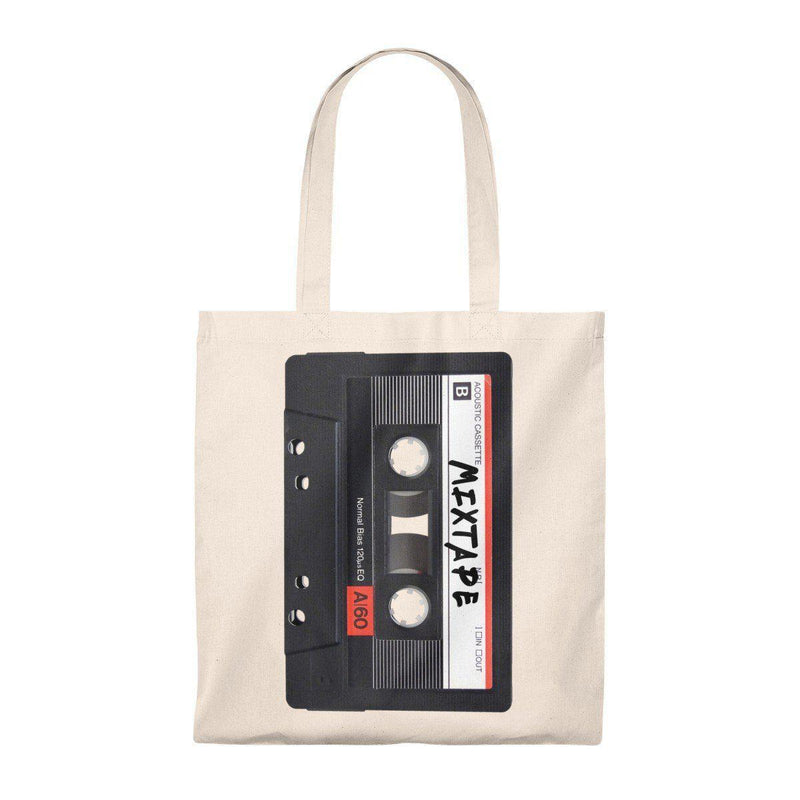 Mixtape Tape Tote Bag - 90S Retro Hip Hop-Natural/Natural-Archethype