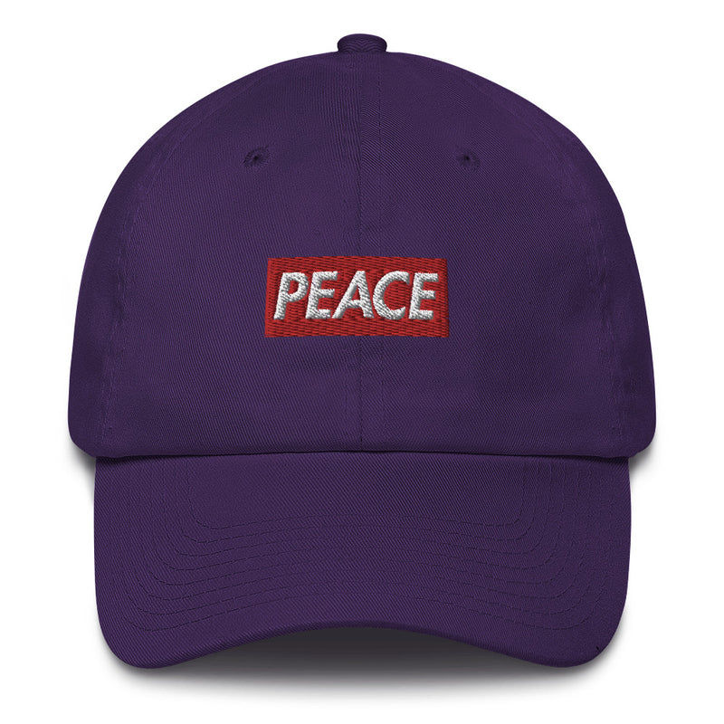 Peace Bogo Made in USA Dad Cap Cotton Hat - Box logo-Purple-Archethype