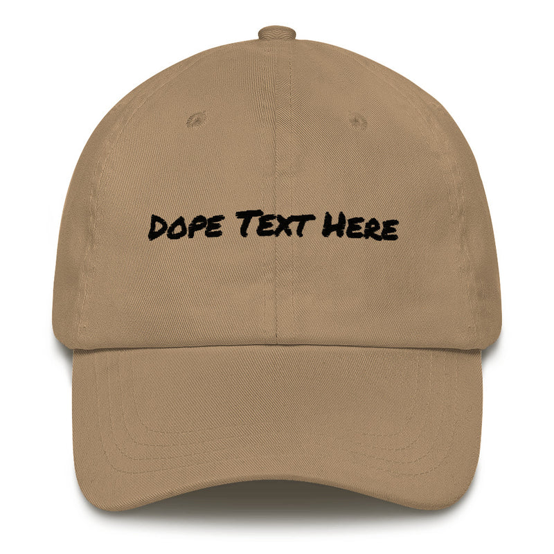Custom embroidered Dad hat - Put your personalized text on this dope dad cap-Khaki-Archethype