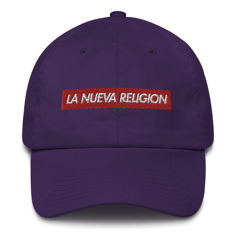 La Nueva Religion Bad Bunny inspired Bogo Made in USA Cotton Dad Cap-Purple-Archethype
