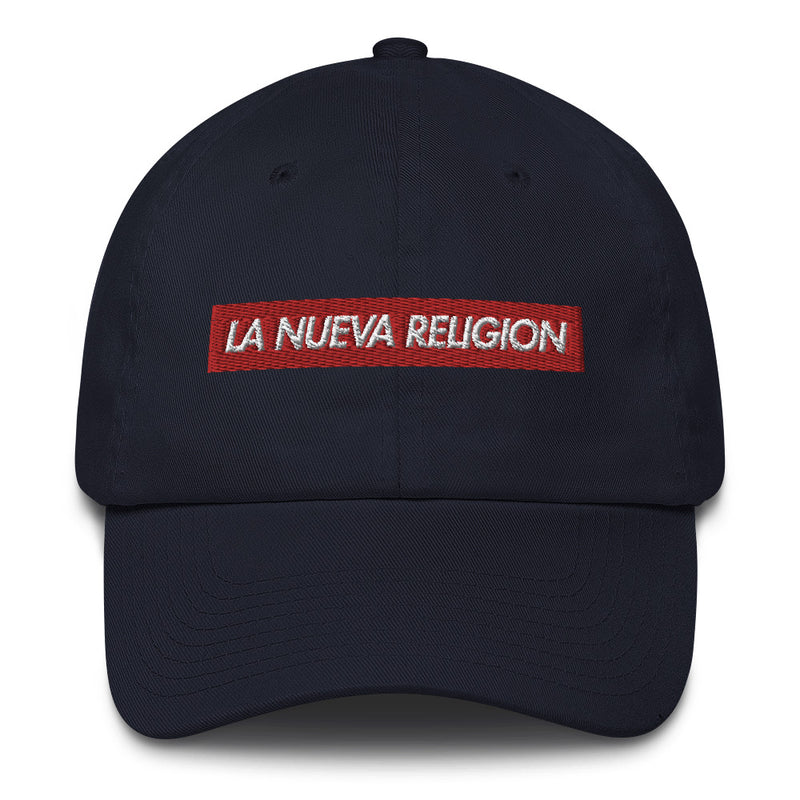 La Nueva Religion Bad Bunny inspired Bogo Made in USA Cotton Dad Cap-Navy-Archethype