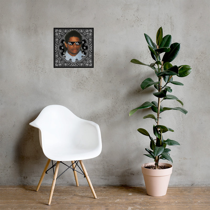 Personalized Thug Life Glasses Face Poster - Upload your own face-16×16-Archethype