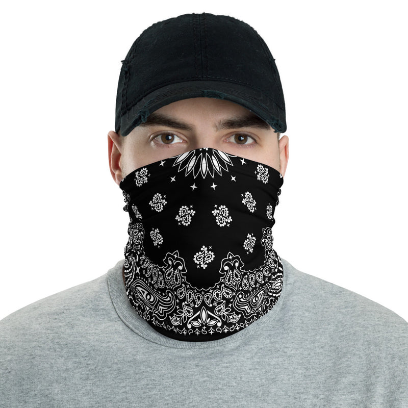 Black Bandana Neck gaiter Snood-Archethype