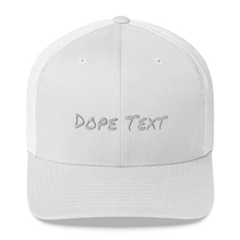 Custom embroidered text Trucker Cap - Free personalization customization Trucker Hat Cap-White-Archethype