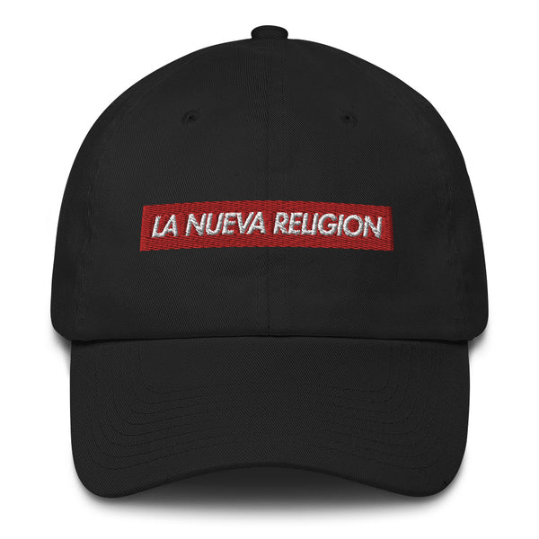 La Nueva Religion Bad Bunny inspired Bogo Made in USA Cotton Dad Cap-Black-Archethype