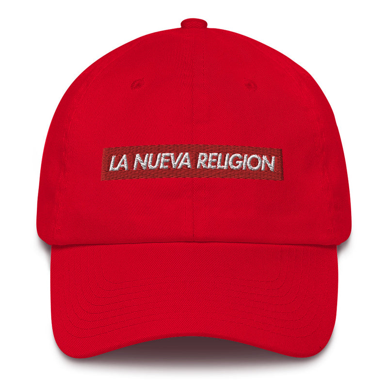 La Nueva Religion Bad Bunny inspired Bogo Made in USA Cotton Dad Cap-Red-Archethype