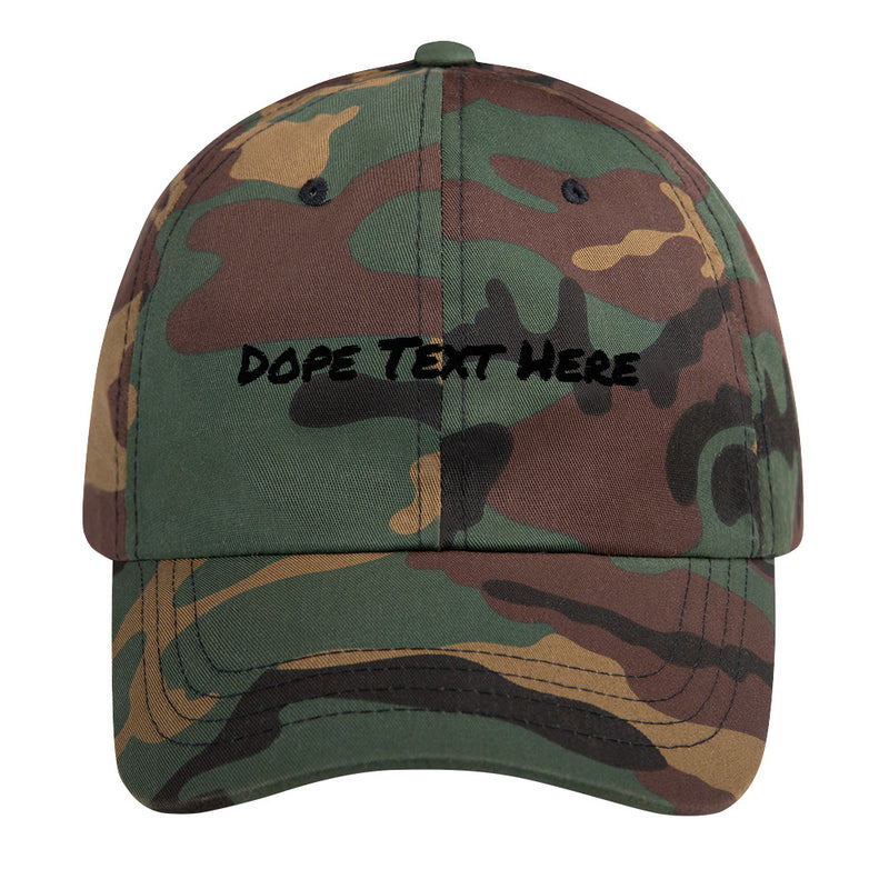 Custom embroidered Dad hat - Put your personalized text on this dope dad cap-Green Camo-Archethype