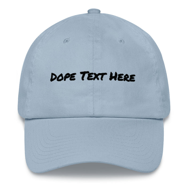 Custom embroidered Dad hat - Put your personalized text on this dope dad cap-Light Blue-Archethype