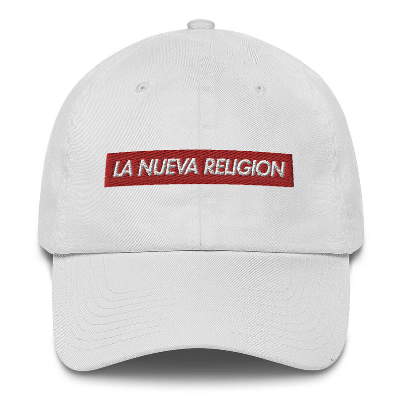 La Nueva Religion Bad Bunny inspired Bogo Made in USA Cotton Dad Cap-White-Archethype