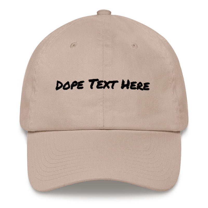 Custom embroidered Dad hat - Put your personalized text on this dope dad cap-Stone-Archethype