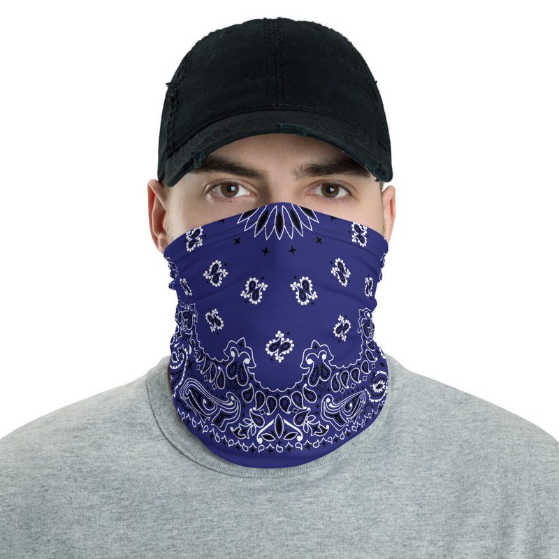 Blue Bandana Neck gaiter Snood-Archethype