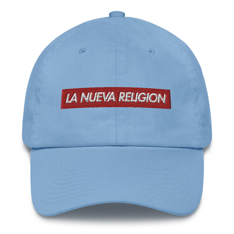 La Nueva Religion Bad Bunny inspired Bogo Made in USA Cotton Dad Cap-Carolina Blue-Archethype