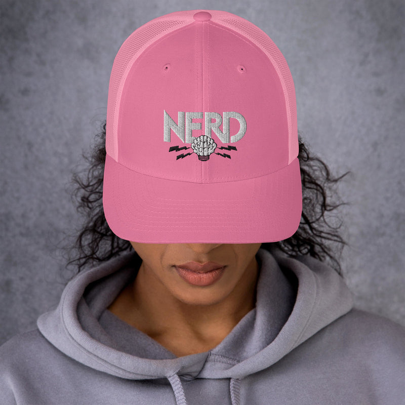 NERD Brain Logo Trucker Cap - Pharrell WIlliams Inspired-Pink-Archethype