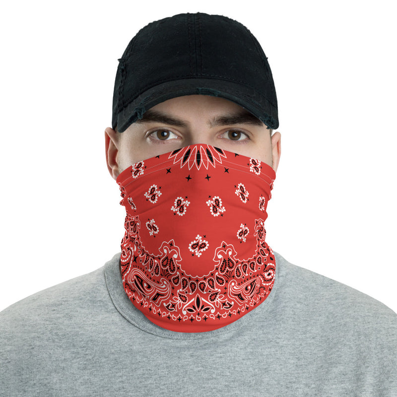 Red Bandana Neck gaiter Snood-Archethype