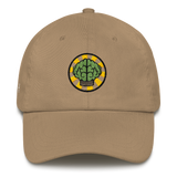 NERD Brain logo embroidery Dad cap snapback. Pharrell Williams, Chad Hugo & Shay Haley.-Khaki-Archethype