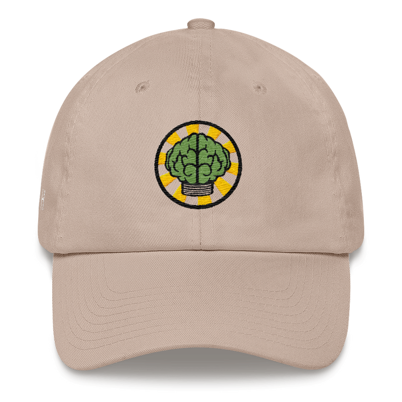 NERD Brain logo embroidery Dad cap snapback. Pharrell Williams, Chad Hugo & Shay Haley.-Stone-Archethype