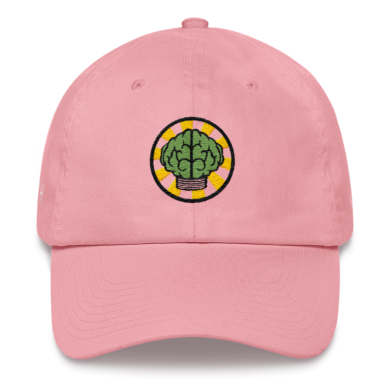 NERD Brain logo embroidery Dad cap snapback. Pharrell Williams, Chad Hugo & Shay Haley.-Pink-Archethype