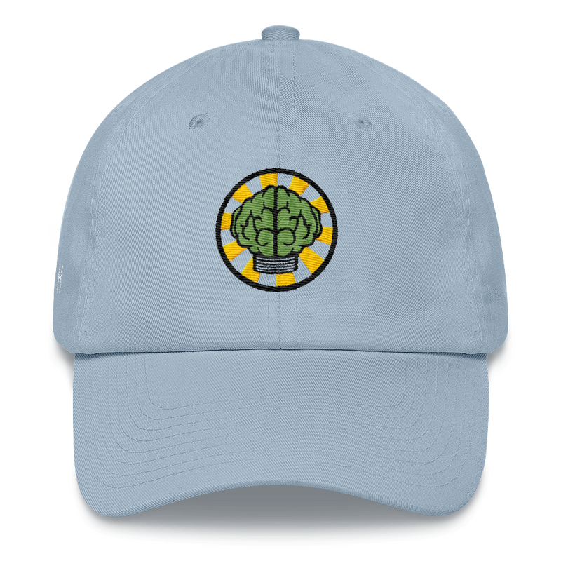 NERD Brain logo embroidery Dad cap snapback. Pharrell Williams, Chad Hugo & Shay Haley.-Light Blue-Archethype