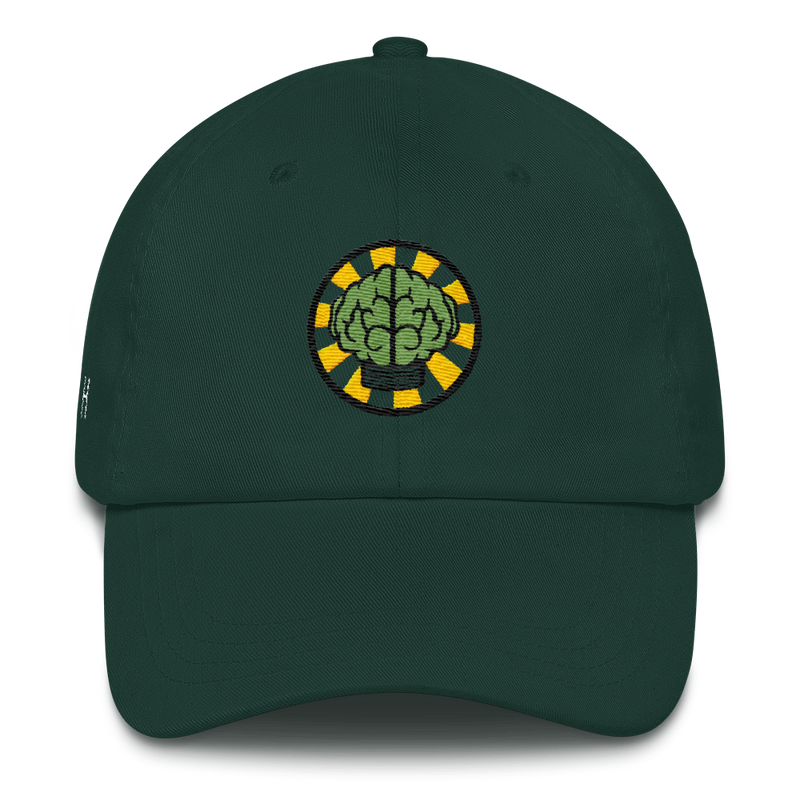 NERD Brain logo embroidery Dad cap snapback. Pharrell Williams, Chad Hugo & Shay Haley.-Spruce-Archethype