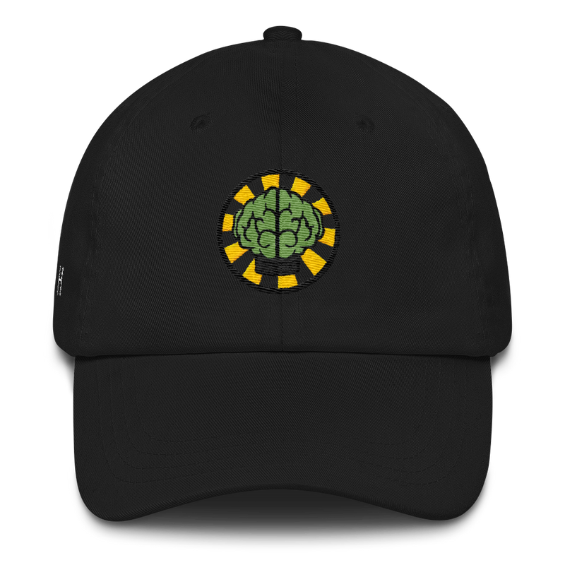 NERD Brain logo embroidery Dad cap snapback. Pharrell Williams, Chad Hugo & Shay Haley.-Black-Archethype