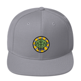 NERD Brain logo embroidery Snapback Cap. Pharrell Williams, Chad Hugo & Shay Haley.-Silver-Archethype