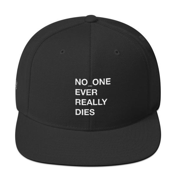 NERD NO_ONE Ever Really Dies logo embroidery Snapback Cap-Black-Archethype