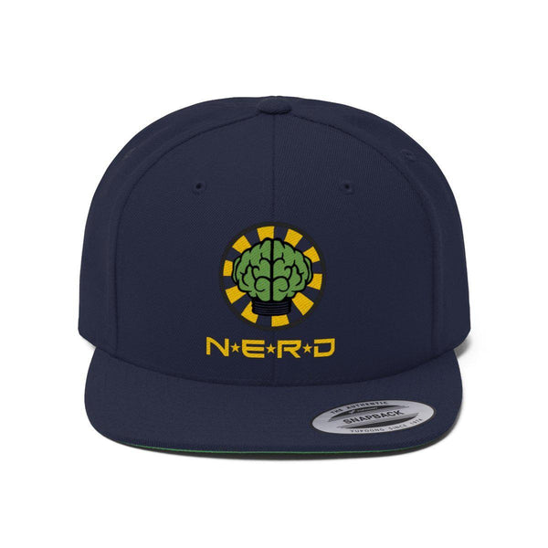 N*E*R*D Unisex Flat Bill Hat-True Navy-One size-Archethype
