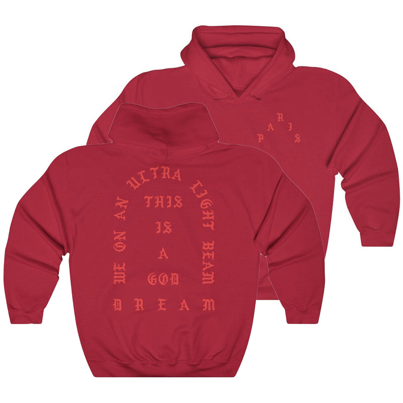I Feel Like Pablo Paris Hoodie Kanye West-Cherry Red-L-Archethype