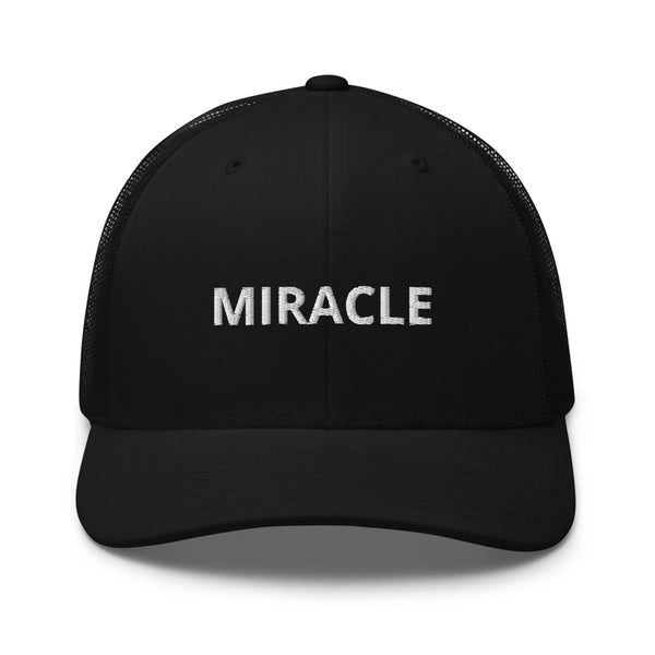Miracle Trucker Cap Hat - Justin Bieber Inspired-Black-Archethype