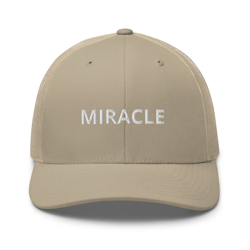 Miracle Trucker Cap Hat - Justin Bieber Inspired-Khaki-Archethype