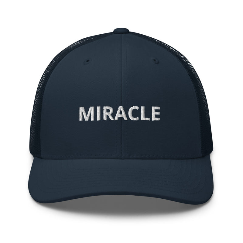 Miracle Trucker Cap Hat - Justin Bieber Inspired-Navy-Archethype