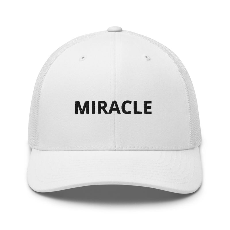 Miracle Trucker Cap Hat - Justin Bieber Inspired-White-Archethype