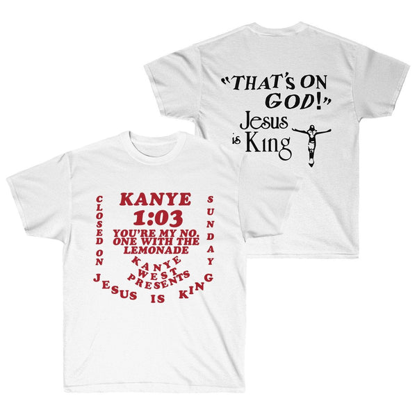 Jesus is King Kanye West Sunday Service Unisex Heavy Cotton T-Shirt-Archethype