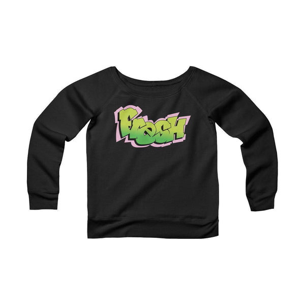 The Fresh Prince Women's Sponge Fleece Wide Neck Sweatshirt-Black-S-Archethype