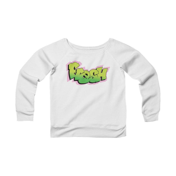 The Fresh Prince Women's Sponge Fleece Wide Neck Sweatshirt-White-L-Archethype