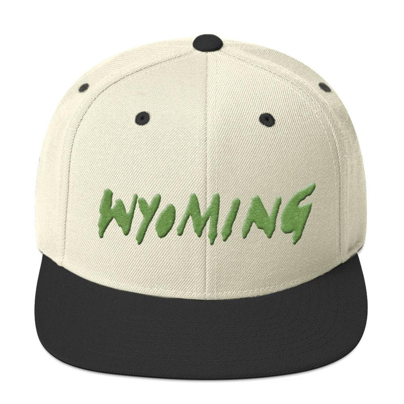 Wyoming Merch Snapback Hat-Natural/ Black-Archethype