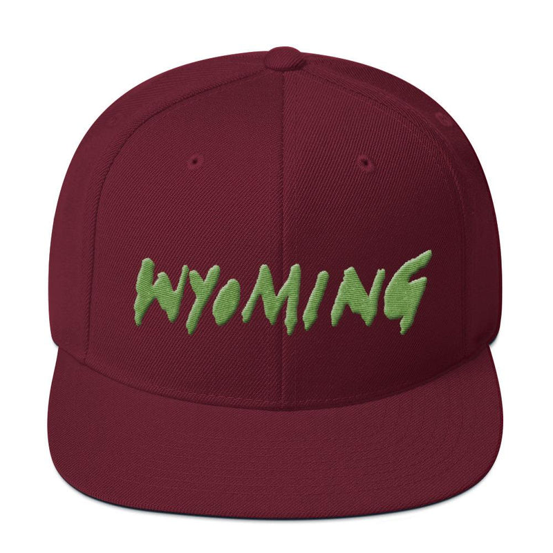 Wyoming Merch Snapback Hat-Maroon-Archethype