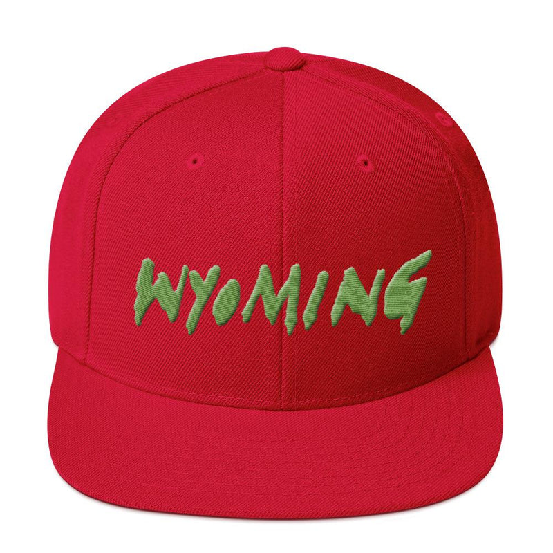 Wyoming Merch Snapback Hat-Red-Archethype