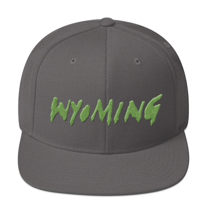 Wyoming Merch Snapback Hat-Dark Grey-Archethype