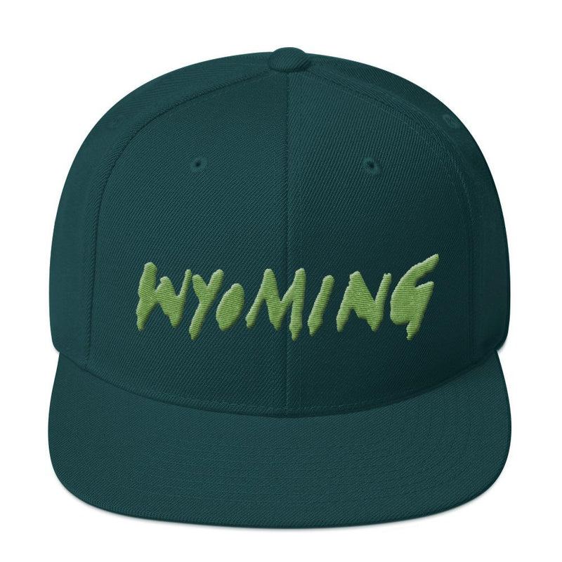 Wyoming Merch Snapback Hat-Spruce-Archethype